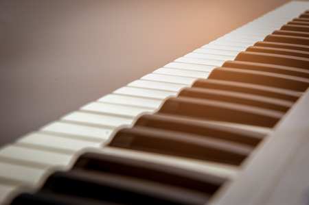 Beautiful keyboard  music For professionals. Stock Photo