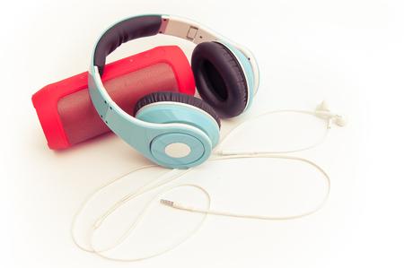 Speakers, headphones and phones, music devices Reklamní fotografie