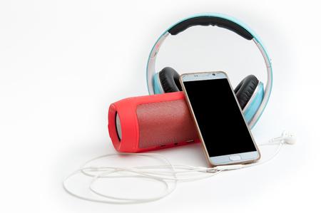 Speakers, headphones and phones, music devices Zdjęcie Seryjne