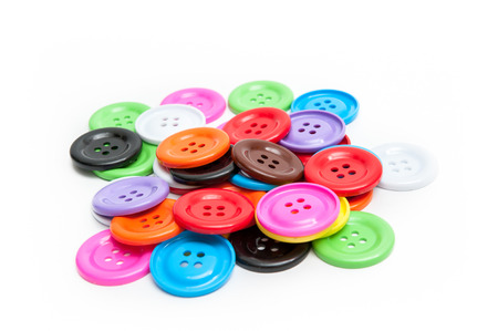 Colorful Button stud, baby toys, skills Stock Photo