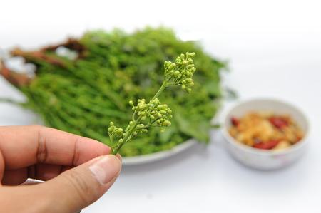 flowers, neem leaves ,Folk food, of Thailand.