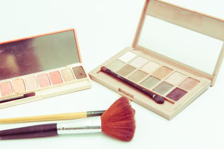 Makeup kitset , eye makeup, and cheek painting.