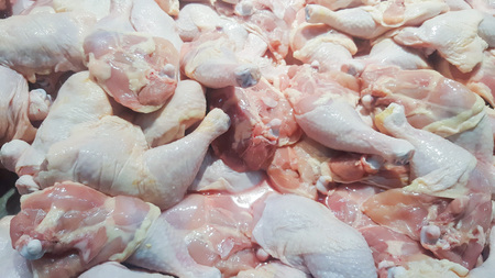 Chicken Drumstick, Raw chicken calves sold in the market. Фото со стока