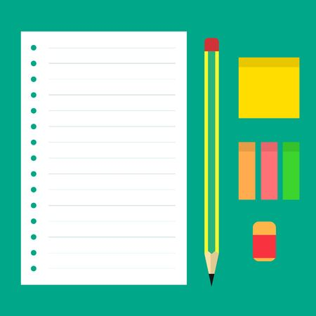 Letter With Pencil and Other Stationery