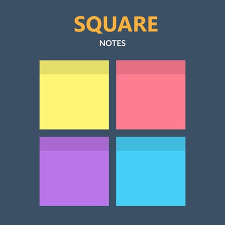 Simple Square Note Sets Ilustración de vector