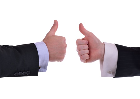 people voting: image of two hands giving thumbs up sign