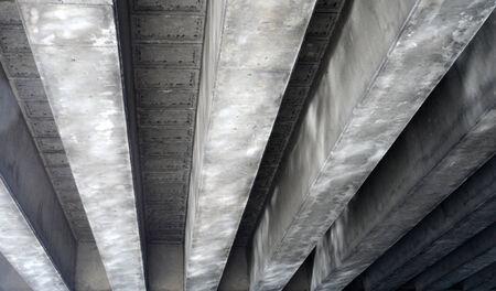 Image of a concrete bridge soffit showing beams
