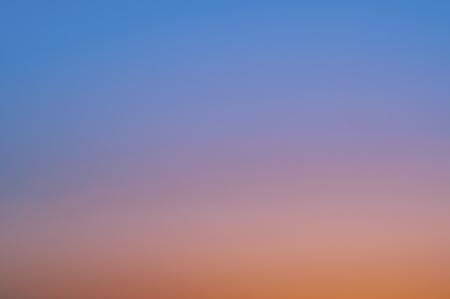 Cloudless sky at sunset Imagens