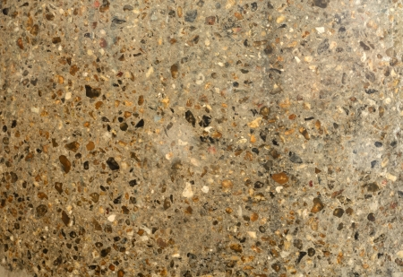 Close up image of concrete with exposed aggregate  Texture shot