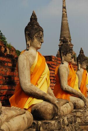 phra nakhon si ayutthaya: Temple in Ayutthaya. Stock Photo