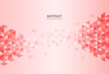 Abstract red modern geometric template on gradient background. Element design with triangle and hexagon shape. Vector Illustration.