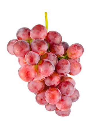 Red grape isolated on white background photo