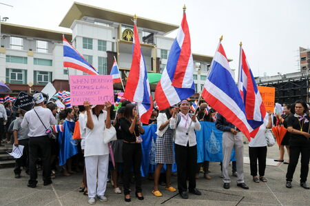 boycott: SONGKHLA, THAILAND- November  05  Students and citizens march  Disagreed with the government