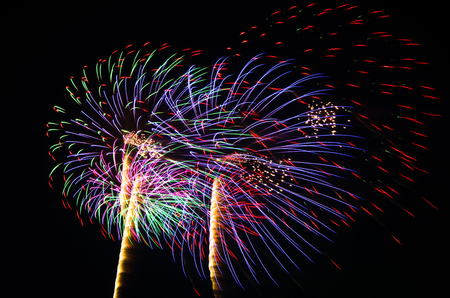 An image of exploding fireworks at night  Represents a celebration  photo