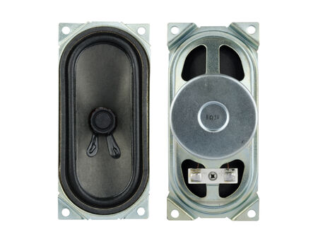 impedance: speaker spare parts for television isolate on white background. Stock Photo