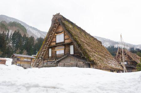 shrinkage: Historic Japanese village Shirakawago at winter, travel landmark of Japan Stock Photo