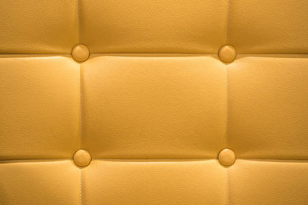 leather skin: leather skin sofa material with upholstery button Stock Photo