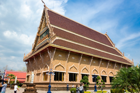 the place is important: LOEI ,THAILAND - FEBRUARY 07 : Tourists visit WAT NEARAMIT VIPASSANA Is an important place of worship, Dansai, Loei, Thailand on FEBRUARY 07 , 2015