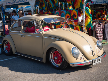 vw: SONGKHLA, THAILAND - May 02 :Vintage Volkswagen  Meeting in VW SONGKHLA AIR COOLED GATHERING SEASON 3 at Singhanakhon beach on May 02,2015 in Songkhla, Thailand. Editorial