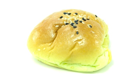 Bread with black and white sesame photo