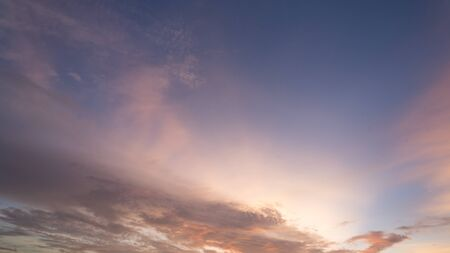 evening sky in beauty color photo