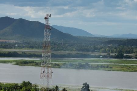 wireless technology: wireless technology in  nature mountain Stock Photo