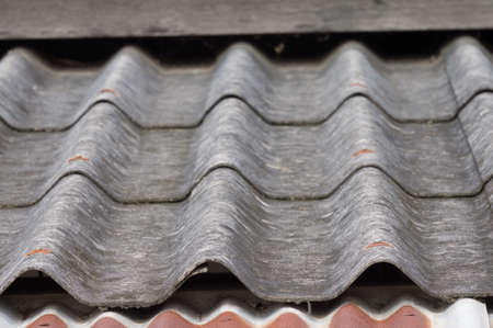 Close up vintage tile roof photo