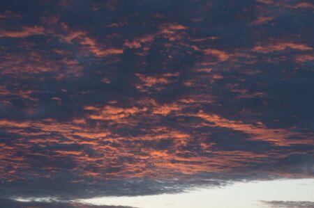 horrific: horrific cloud on sky in twilight