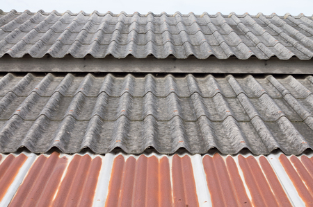 Vintage roof with tile and iron photo