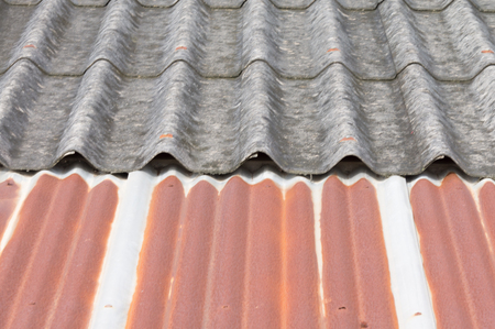 Old tile and iron roof photo