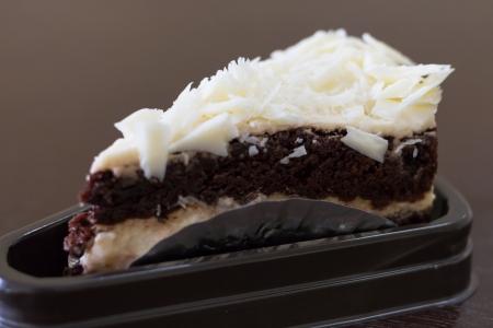 Black and white chocolate cake Stock Photo