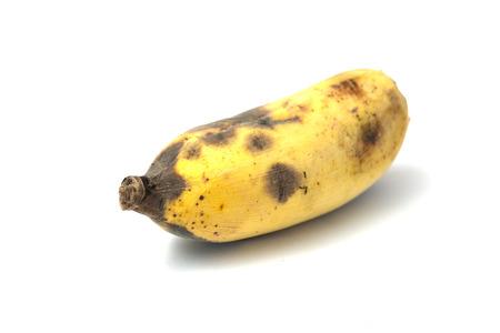 ripen: Ripen sweet yellow banana in white background