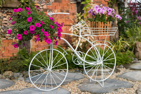 bicycle of love in beautiful gaden photo