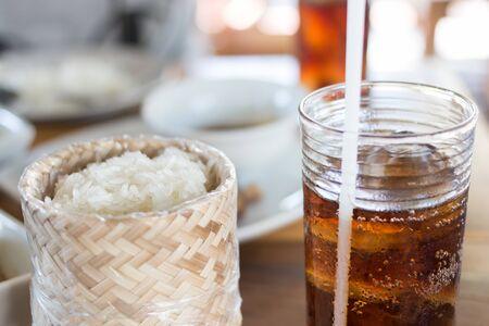 thai food: Thai food and drink water