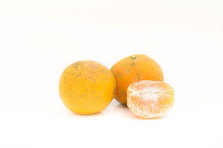 Group orange on white background