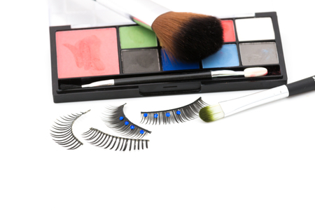 Make up set isolate on white background