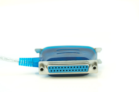 Blue parallel port adaptor on isolate