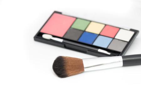 Make up set on white background