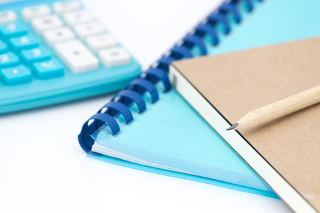 Accounting accessory on white background