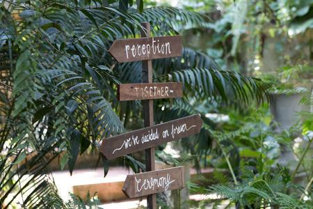 Garden sign tag reception
