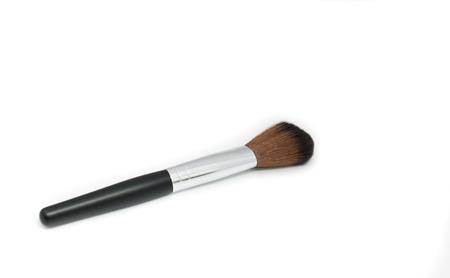 Big Make up brush on white background Stock Photo