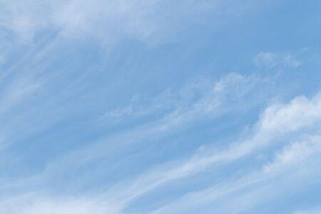 Blue sky on summer time