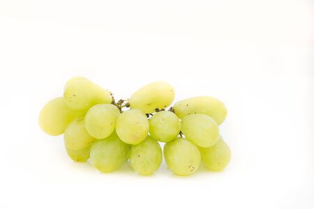 Green grape isolate on white background Stock Photo