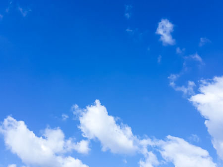 Blue sky and white cloud in summer