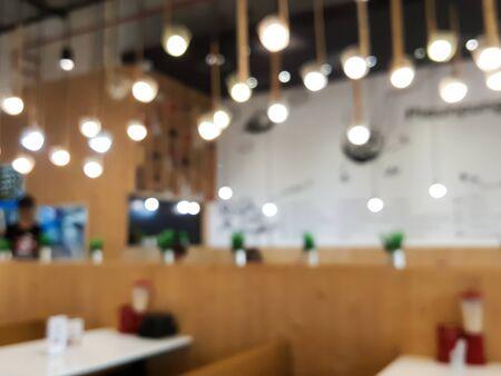 Blur bokeh background of restaurant