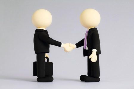 Two businessmen (doll) handshake5 photo