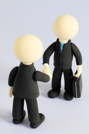 Two businessmen (doll) handshake3 photo