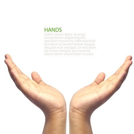 Twee handen geconfronteerd upword
