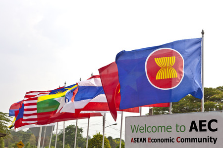In preparation to the AEC 2015, AEC flag and Southeast asia nation flags often be decorated in academies.