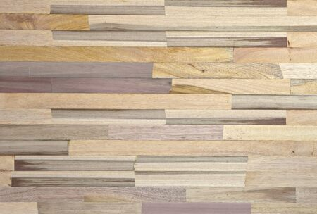 pices: Pices of strip wood with various color and pattern are made to be a board look like parquet.